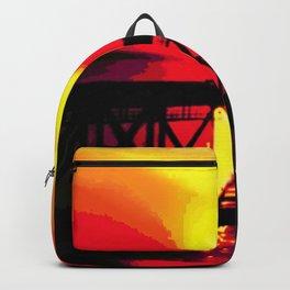 Sunset On The Bay Bridge Backpack