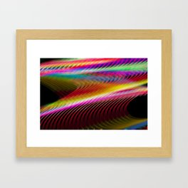 Colour in motion. Framed Art Print