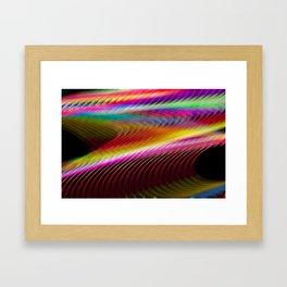 Colour in motion. Framed Art Print
