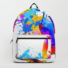 Hip hop dancer jumping Backpack
