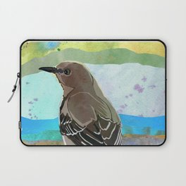 Mockingbird on a Wire Fence - In The Morning Laptop Sleeve