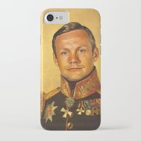 neil gaiman iPhone & iPod Cases featuring Neil Armstrong - replaceface by replaceface