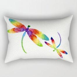 Little Rainbow Dragonflies Rectangular Pillow