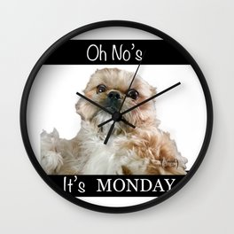 Oh No's. It's MONDAY Wall Clock