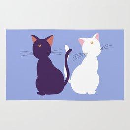 Luna & Artemis (Minimalist) - Blue Rug