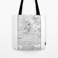 oakland Tote Bags featuring Oakland  by Hollyce Jeffriess Designs