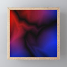 Cosmic sparkling hole of blue zigzags and red spots. Framed Mini Art Print