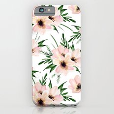 Pink bouquet. Watercolor iPhone 6 Slim Case