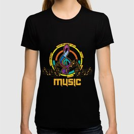 Colorful Treble Clef Orchestra Choir Music Symbol T-shirt