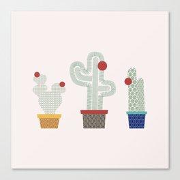We are 3 cactus! Canvas Print