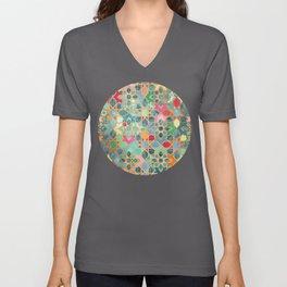 Gilt & Glory - Colorful Moroccan Mosaic Unisex V-Ausschnitt