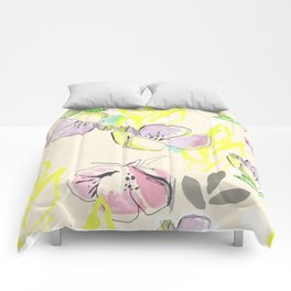 Femme Florale Comforters