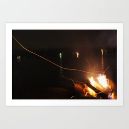 Fire Light Art Print