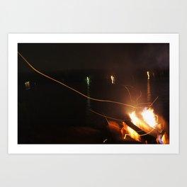 Fire Light Art Print