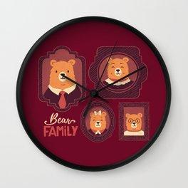 Bear Family Wall Clock