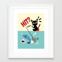 fishing Framed Art Prints featuring Fishing by BATKEI