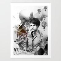 david olenick Art Prints featuring David by Victoria Viray