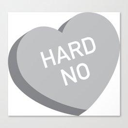 Candy Heart - Hard No (grey) Canvas Print
