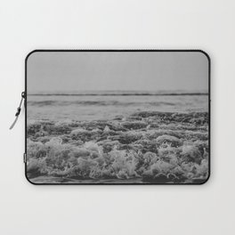 Black and White Pacific Ocean Waves Laptop Sleeve