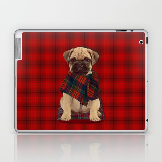 The Plaid Poncho'ed Pug Laptop & iPad Skin