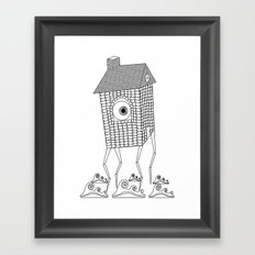 Lanky Land Framed Art Print