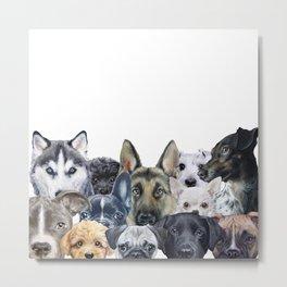 Dog all star, friends original painting print by miart Metal Print