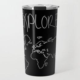 Explore World Map Travel Mug