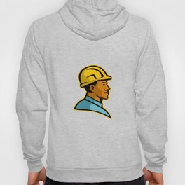 African American Construction Worker Mascot Hoody