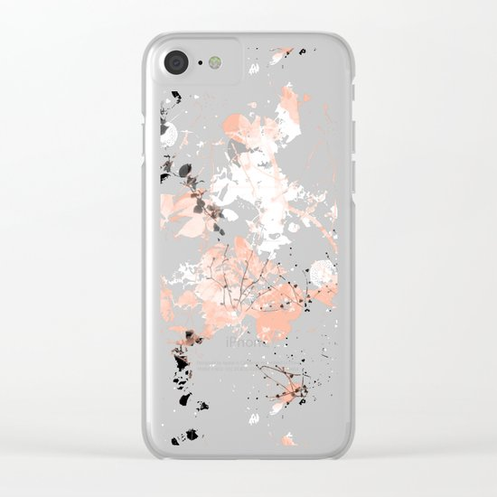 Black Spring II Clear iPhone Case