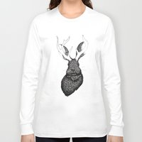 jackalope Long Sleeve T-shirts featuring The Jackalope by ECMazur