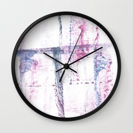 Red blue watercolor Wall Clock
