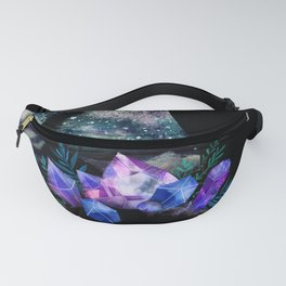 The Cat With Aquamarine Eyes And Celestial Crystals Fanny Pack