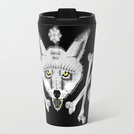 Silver Fox Geometric Travel Mug