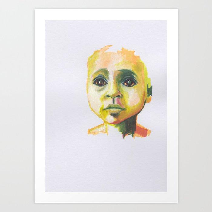 Petites têtes 8 Art Print