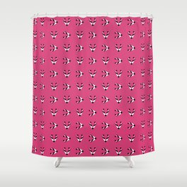 Foxes pink pattern Shower Curtain