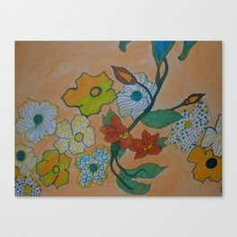 Flowery Chain Canvas Print