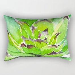 green succulent 3 Rectangular Pillow