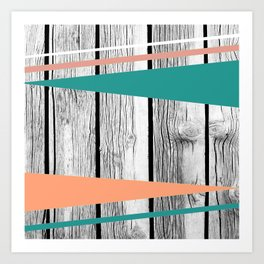 Colored arrows on wood Art Print