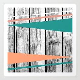 Colored arrows on wood Art Print