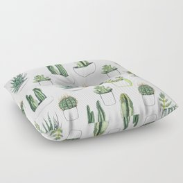 Watercolour Cacti & Succulents Floor Pillow