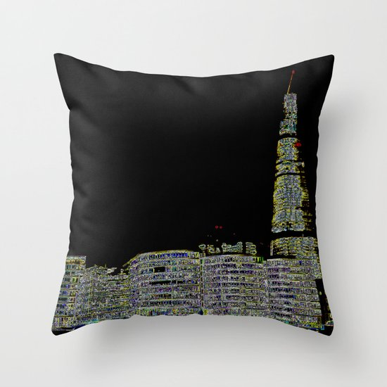 The Shard and London's South Bank Throw Pillow