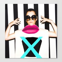 the xx Canvas Prints featuring xx by Neon Wonderland