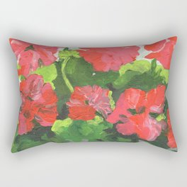 Geraniums Rectangular Pillow