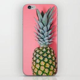Pineapple on Pink. iPhone Skin