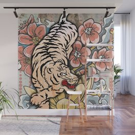 White Tiger Wall Mural