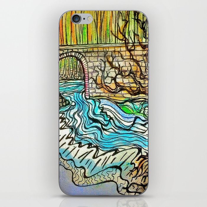 WATER UNDER THE BRIDGE iPhone Skin
