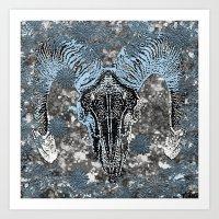 ram Art Prints featuring Ram by Saundra Myles