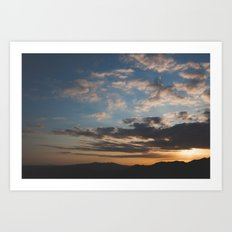 Sunset Hike Los Angeles Art Print