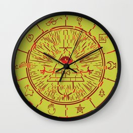 Gravity Falls Bill Cipher Wheel- disorderd Wall Clock