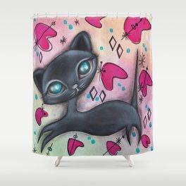 Judy Cat Shower Curtain